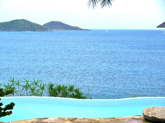 Rosewood Little Dix Bay: Spa, view