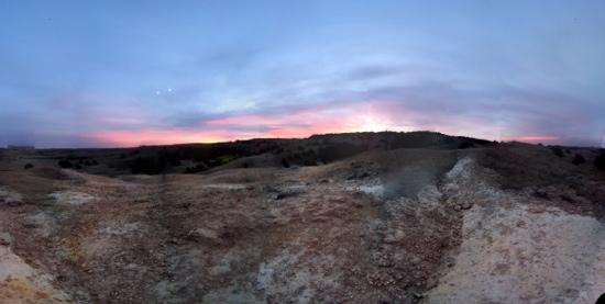 Sage Creek Campground: sunset from the hill trail