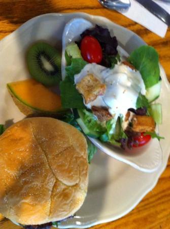 Oak Table Cafe: Kobe beef burger and salad
