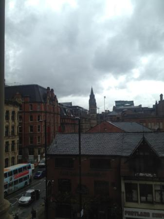 Townhouse Hotel Manchester: view from our bedroom
