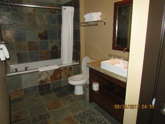 Silver Creek Lodge: Bathroom with stackable washer and dryer in closet