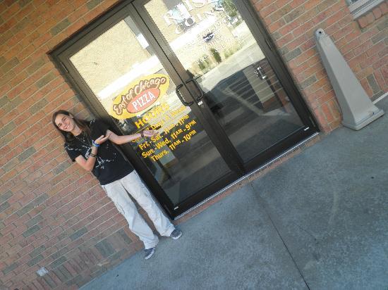 East Of Chicago Pizza: the door