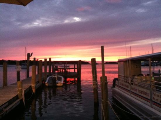 Jolly Roger Pub and Marina: 9/2012 sunset