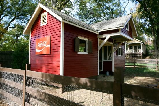 The Social Goat Bed & Breakfast: little red barn