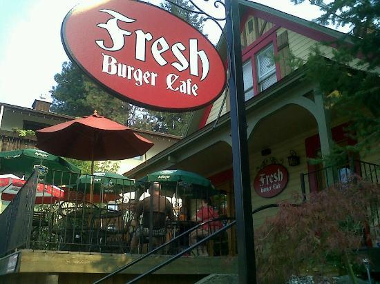 Fresh Burger Cafe: The street view of Fresh.