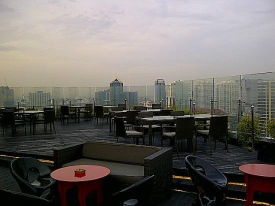Centara Grand at Central Plaza Ladprao Bangkok: View from Blue Sky Bar on 24th Floor