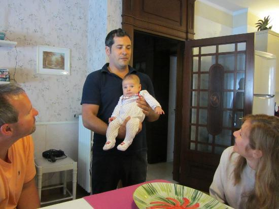 Villa Adriana Guesthouse Sorrento : Valerio showing off his new baby