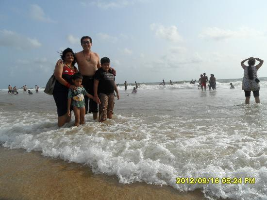 Baga Beach : with family