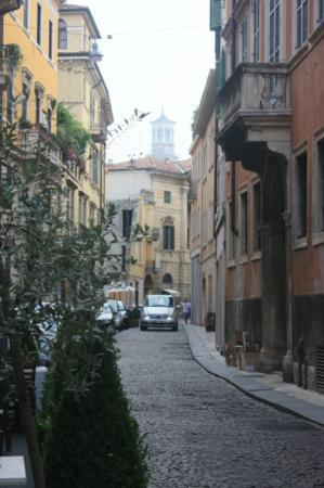 All'Opera Prima: The street on which to find the B&B but you need to look!