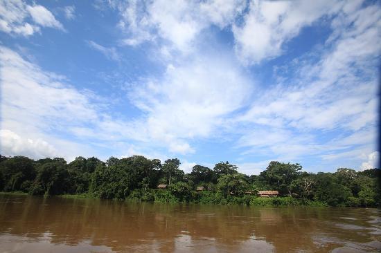 Bayanga, República Centroafricana: Lodge from the river.