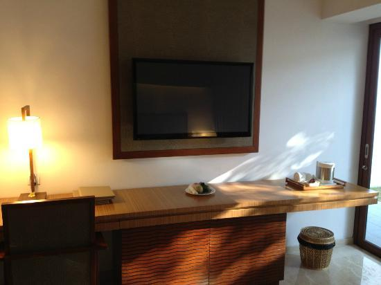 The Magani Hotel and Spa: Large LCD with DVD player as well