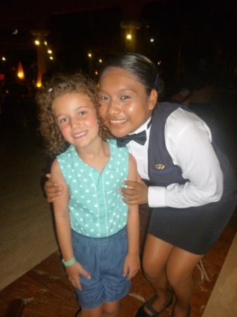 Grand Palladium Colonial Resort & Spa: waitress and Emily... so sweet