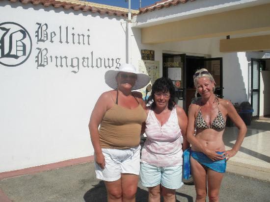 Bellini Bungalows: me, Hanna and next door friend