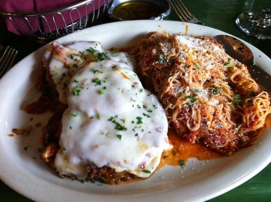 Greenhouse Grill: Eggplant Parm with Angel Hair
