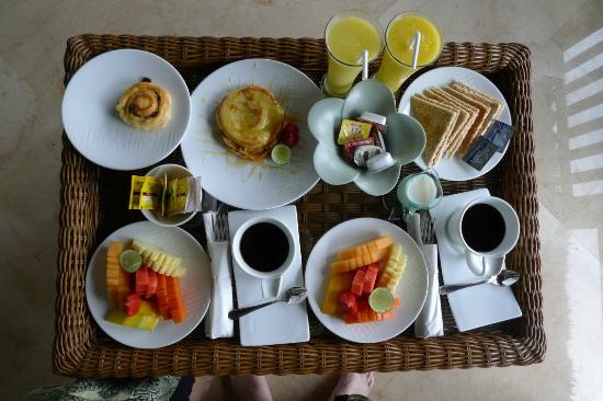 Amori Villas: In room breakfast