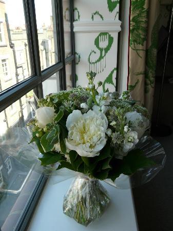"""The Soho Hotel: Accueil """"avec des fleurs"""" (en option)"""