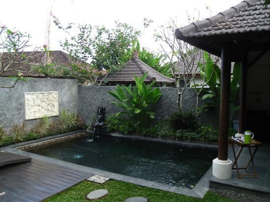 The Kampung Ubud Villa: Bien agréable et au soleil jusqu'à 15 h