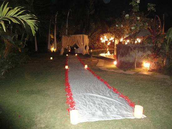 La Villa Mathis: diner romantique
