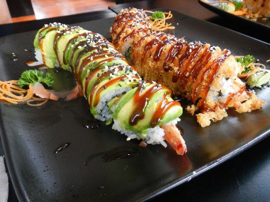 Kappa Sushi Fortuna: Magnificent Dragon & Crunch roll