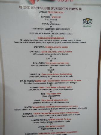Kappa Sushi Fortuna: menu