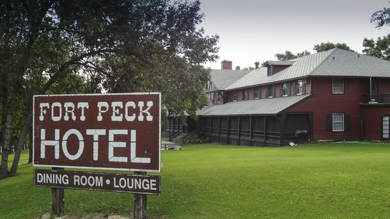 """Fort Peck, MT: Located """"on the square"""""""