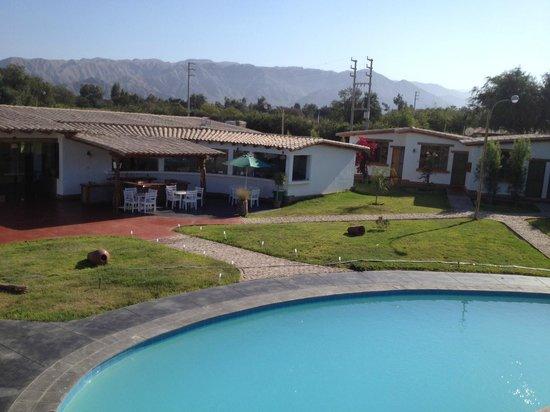 Casa Hacienda Nasca Oasis: HOTEL POOL AND GREEN AREAS