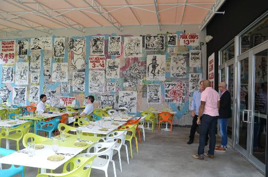 wynwood kitchen and bar art on the outdoor patio - Wynwood Kitchen And Bar
