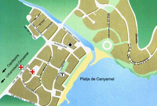 Aparthotel Canyamel Sun: MAP CANYAMEL