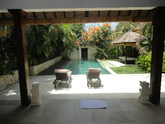 Villa Bali Asri: Villa 6 - From the living area looking at the pool