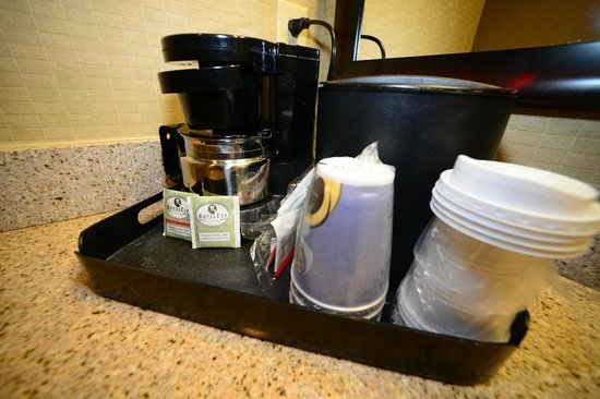Holiday Inn Express Hotel & Suites Opelika Auburn:                   Coffee maker next to toilet