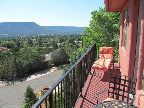 The Penrose B&B: Kokopeli Room balcony view.