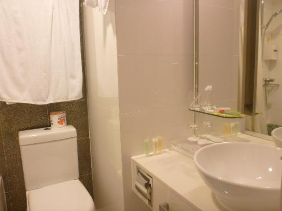 Silka Seaview Hotel: toilet & around water