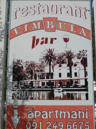 Restoran Vimbula: Ad showing river view of the restaurant