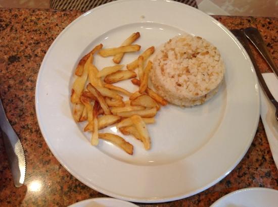 El Hussein Restaurant : terrible frieses