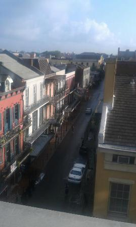 Crowne Plaza Hotel Astor-New Orleans: This is a view of Bourbon Street in the morning from the 3rd floor rooftop pool