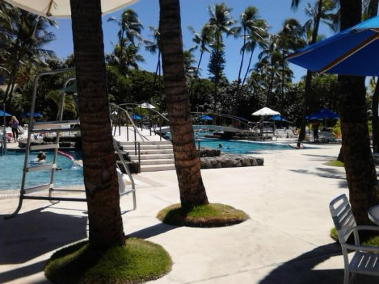 Hale Koa Hotel: Pool area with two pools. Another strictly adult pool and hot tub in another section
