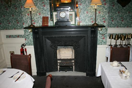 Arbutus Hotel : One of the fireplaces. This one is in the sitting area.