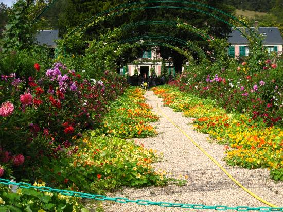 Giverny, France: One of the flower gardens leading to the house