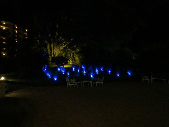 Barcelo Puerto Vallarta: Hotel Grounds at Night