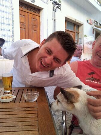 Cafe-Bar O Cota: patryk met onze jack russell don't try this at home!