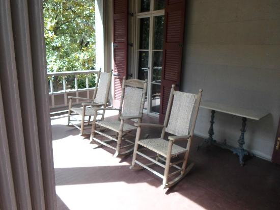 Juliette Gordon Low's Birthplace: Rocker on the back porch