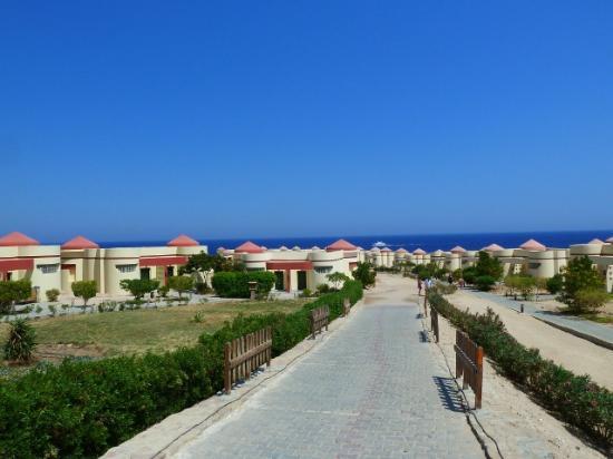 Al Nabila Grand Bay Makadi : Way to the bungalows