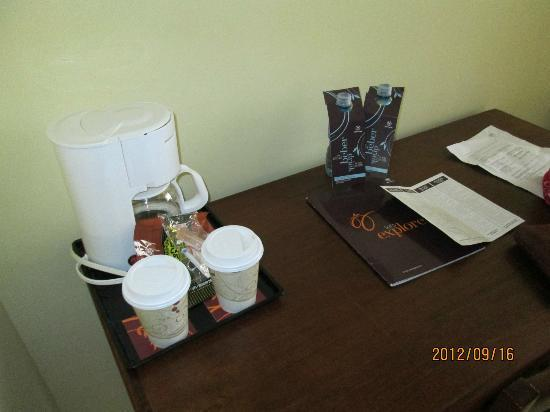 Sheraton Bijao Beach Resort: coffee machine in the room