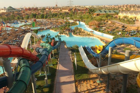 Jungle Aqua Park: Widok z aqua parku