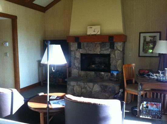 Sunriver Resort: Cozy fireplace...which we did use a little.