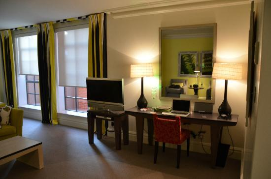 The Soho Hotel: junior suite work area