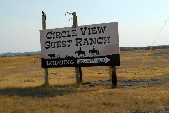 Circle View Guest Ranch: The Sign on Route 44 between Mile Marker 115 and 116