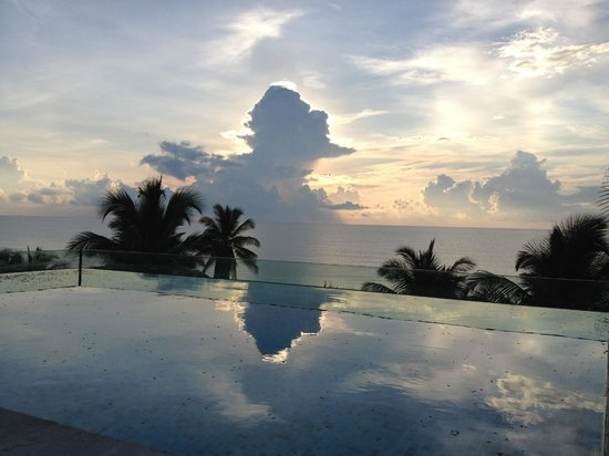 Be Tulum Hotel:                                                                         Sunrise from the roof to