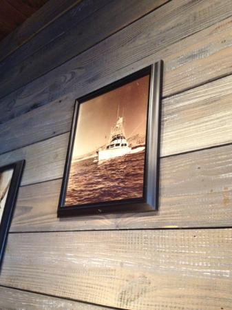 Red Lobster: Yo Ho boat on wall