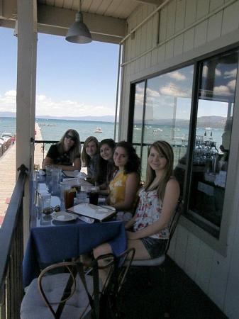 Boathouse On The Pier: Balcony Dining at Tahoe Pier